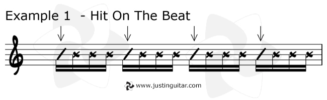 Funk Guitar Course Scratches Example 1
