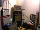 The amp room...